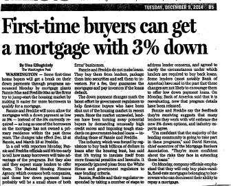 First-Time Buyers Can Get A Mortgage With 3% Down