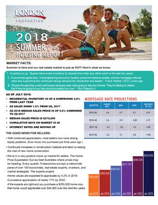 2018 Summer Housing Report