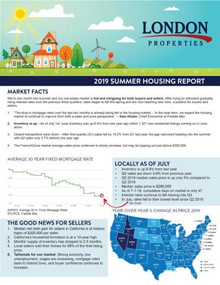 2019 Summer Housing Report