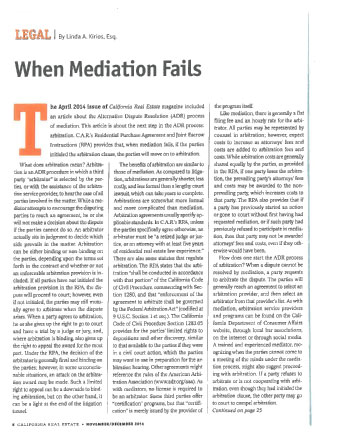 When Mediation Fails