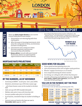 2019 Fall Housing Report