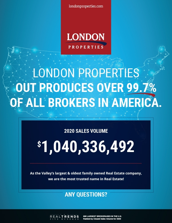 London Properties Outproduces Over 99.7% Of All Brokers In America